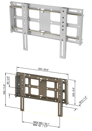 RD FL1, Universal Fixed Wall Mount for Medium Flat Screens 24 inch to 32 inch