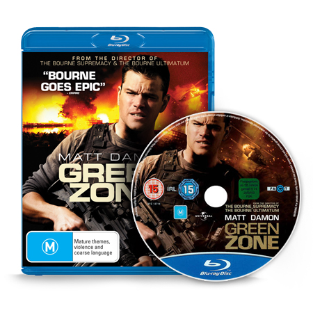 RGB Green Zone Blu Ray Movie, Green Zone Blu Ray Movie (2010)