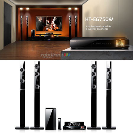 SAMSUNG HTE6750, 7.1ch Full HD 1080p 3D Blu-Ray Disc Home Cinema System.