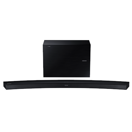 SAMSUNG HWJ6000R, 2.1 Ch Curved Wireless Soundbar with Subwoofer - Black