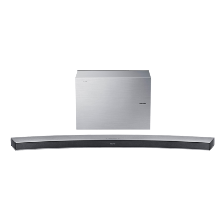 SAMSUNG HWJ6501R, 2.1 Ch Curved Wireless Multiroom Soundbar with Subwoofer - Silver