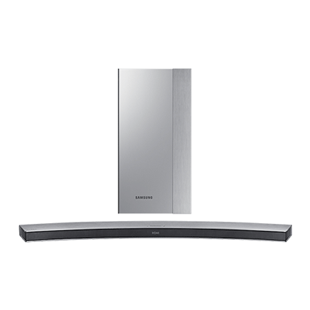 SAMSUNG HWM4501, Smart Bluetooth 2.1 Ch Curved Soundbar with Wireless Subwoofer in Silver