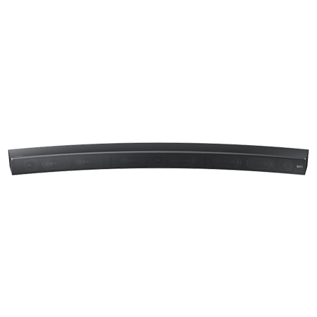 SAMSUNG HWMS6500, Smart Curved 5.1 Ch Bluetooth Wi-Fi All in one Sound Bar with Distortion Cancelling in Titanium Grey.