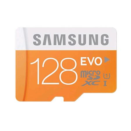 SAMSUNG MBMP128DAEU, Samsung EVO 128 GB microSDXC Card (SD Adapter) (128GB) Memory Card