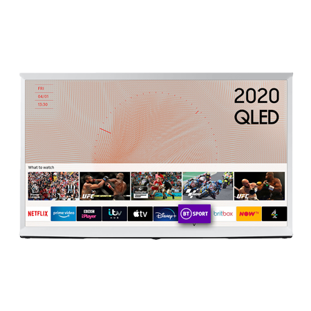 SAMSUNG QE55LS03T, 55 inch Smart Ultra HD 4K QLED TV FInish with Freeview