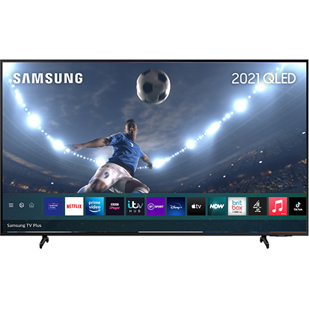 SAMSUNG QE55Q60A, 55 inch QLED TV Black with Freeview