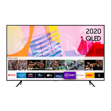 SAMSUNG QE55Q60T, 55 inch Smart Ultra HD 4K QLED TV Black with Freeview
