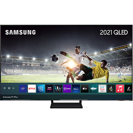 SAMSUNG QE55Q70A, 55 inch QLED TV Black with Freeview
