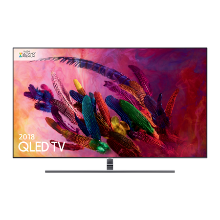 SAMSUNG QE55Q7FNA, 55 inch Series 7 Smart QLED 4K Ultra HD Premium Certified 4K TV with Built-in Wifi & Silver Bezel.