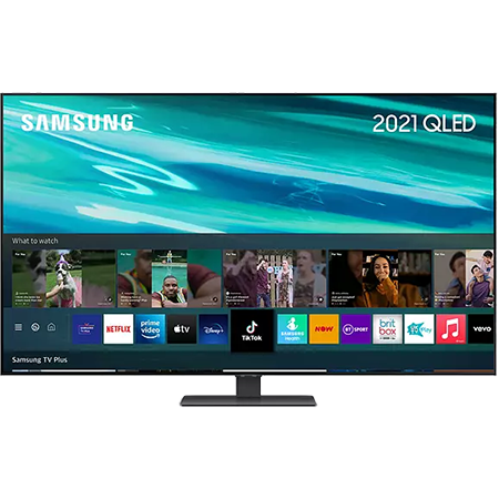 SAMSUNG QE55Q80A, 55 inch QLED UHD 4K TV Black with Freeview