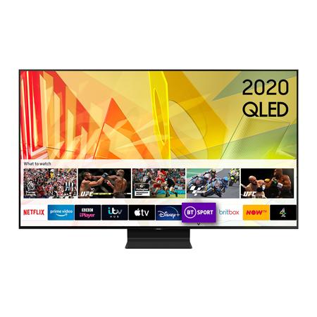 SAMSUNG QE55Q90T, 55 inch Smart Ultra HD 4K QLED TV TItan Black FInish with Freeview