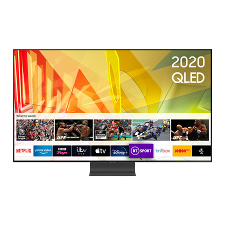 SAMSUNG QE55Q95T, 55 inch Smart Ultra HD 4K QLED TV Carbon SIlver FInish with Freeview