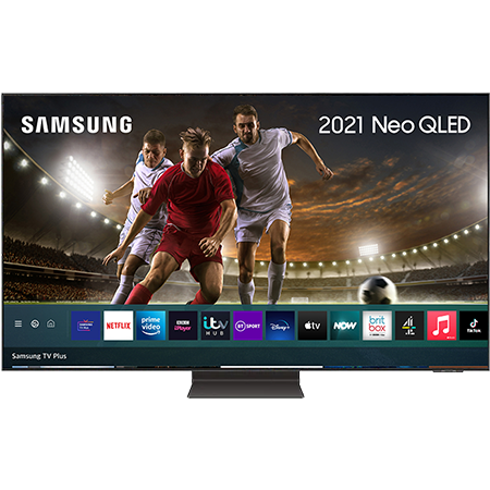 SAMSUNG QE55QN95A, 55 inch Neo QLED 4K TV Black with Freeview