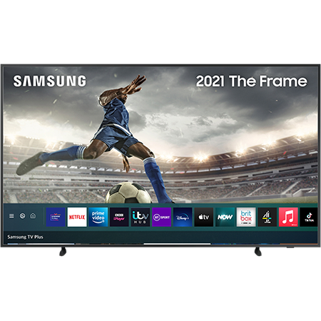 SAMSUNG QE65LS03A, 65 inch QLED 4K Frame TV Black with Freeview