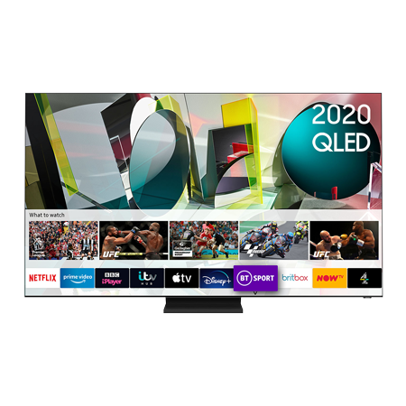 SAMSUNG QE65Q900T, 65 inch Smart QLED TV Stainless Steel FInish with Freeview