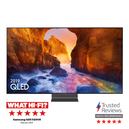 SAMSUNG QE65Q90R, 65 inch Smart 4K Ultra HD HDR QLED TV with Bixby