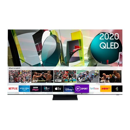 SAMSUNG QE65Q950T, 65 inch Smart 8K QLED TV Stainless Steel Finish with Freeview