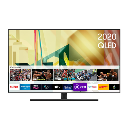 SAMSUNG QE75Q70T, 75 inch Smart Ultra HD 4K QLED TV Black with Freeview