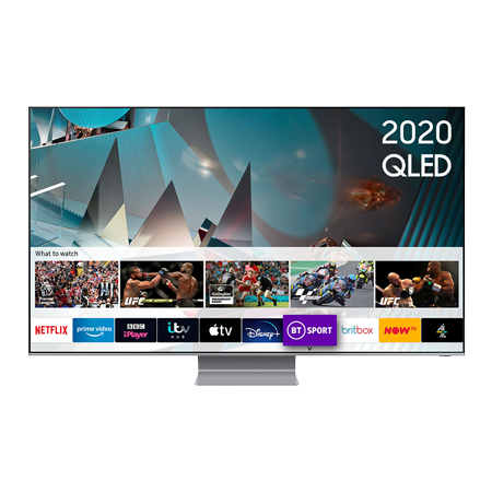 SAMSUNG QE75Q800T, 75 inch Smart QLED TV TItan Black FInish with Freeview