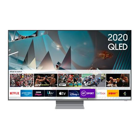 SAMSUNG QE82Q800T, 82 inch Smart QLED TV TItan Black FInish with Freeview