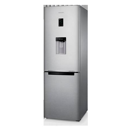 SAMSUNG RB31FDRNDSA, Freestanding Frost Free Fridge Freezer with Non plumbed water dispenser -  Silver.Ex-Display Model