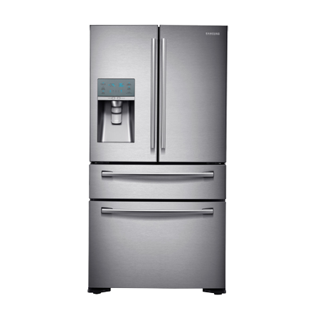 SAMSUNG RF24FSEDBSR, American 4 door fridge freezer with A+ Energy Rating