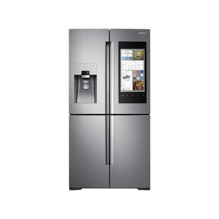 """SAMSUNG RF56M9540SR, Family Hubâ""""¢ Side by Side Fridge Freezer in Stainless Steel A+ Rated"""