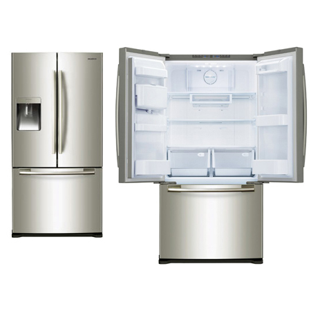 Samsung Rf62qepn1 Wide French Doors Fridge Freezer Combination With