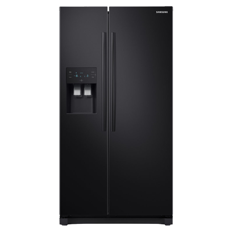 SAMSUNG RS50N3413BC, Side by Side Fridge Freezer in Metal Black with A+ Rated Energy