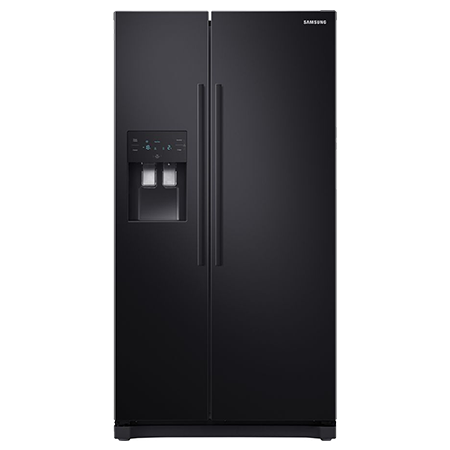 SAMSUNG RS50N3513BC, US Style Side by Side Fridge Freezer in Black with Plumbed water and ice dispenser
