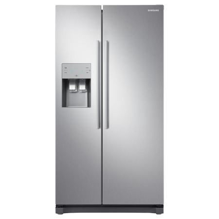SAMSUNG RS50N3513SL, US Style Side by Side Fridge Freezer A+ Energy rating in Silver