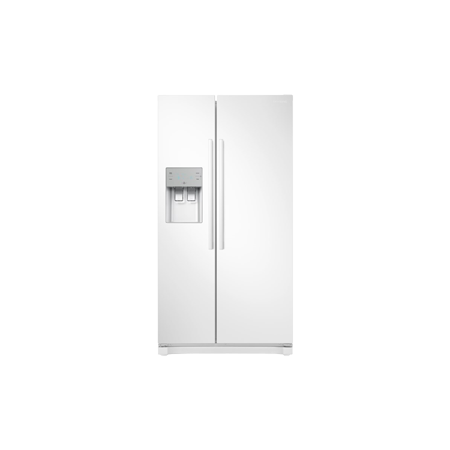 SAMSUNG RS50N3513WW, Side by Side Fridge Freezer in White with A+ Rated Energy.