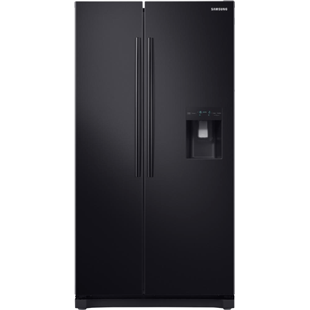 SAMSUNG RS52N3213BC, Side by Side Fridge Freezer in Black A+ Rated Non Plumbed