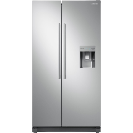 SAMSUNG RS52N3313SA, Side by Side Fridge Freezer in Metal Graphite with A+ Rated Energy. Non plumbed