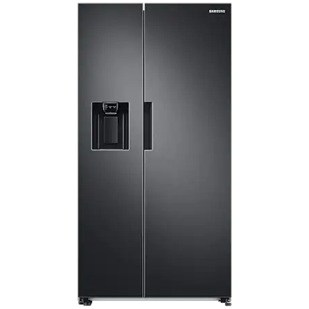 SAMSUNG RS67A8810B1, Side by Side Plumbed Fridge Freezer in Graphite / Stainless Steel