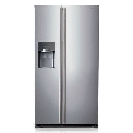 SAMSUNG RS7567BHCSP, American Style Side by Side Fridge Freezer Plumbed in Silver