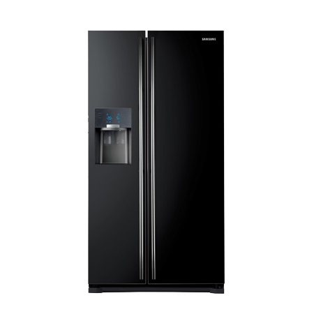 SAMSUNG RS7567THCBC, US Style Side by Side Frost Free Fridge Freezer with A+ Energy Rating - Gloss Black
