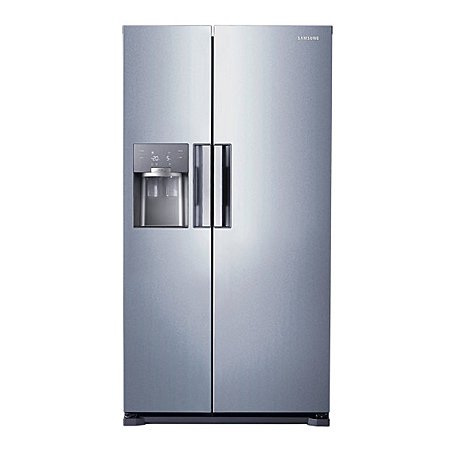 SAMSUNG RS7667FHCSL, US Style Side by Side Fridge Freezer with Plumbed ice water dispenser & A+ Energy Rating - Stainless Steel