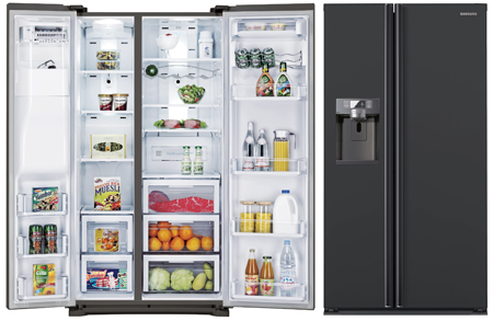 SAMSUNG RSG5UUMH, Side By Side Fridge Freezer Combination with Built-In Water Dispenser