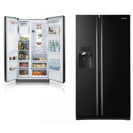 SAMSUNG RSH5UBBP, Side By Side Fridge Freezer Combination with Built-In Water Dispenser