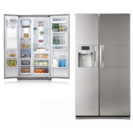 Samsung Side By Side rsh7znrs1 side by side fridge freezer combination with built in