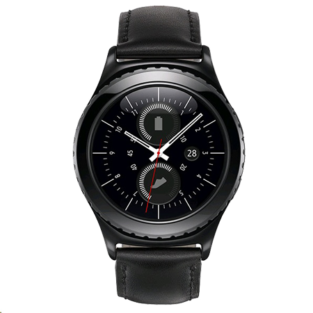 SAMSUNG SMR7320ZKABTU, Samsung Gear S2 Classic Smart Watch(Black) Wearable