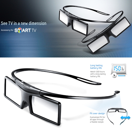 SAMSUNG SSGP41002XC, Twin Pack Fit Over Design 3D Glasses
