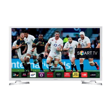 SAMSUNG UE32J4510, 32 Series 4 HD Ready Smart LED TV with Freeview HD & Built-in Wi-Fi in White