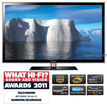 SAMSUNG UE40D5520, 40 inch Series 5 Full HD 1080p Smart LED TV with 100Hz Clear Motion Rate.Ex-Display Model