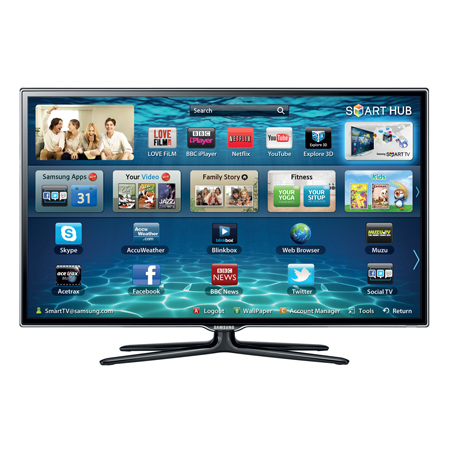 SAMSUNG UE40ES6540, 40 Series 6 Full HD 1080p Smart 3D LED TV with 400Hz Clear Motion Rate, Freeview HD & Freesat HD
