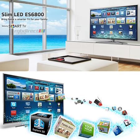34fd4922904b2f SAMSUNG UE40ES6800, 40 Series 6 Full HD 1080p Smart 3D LED TV with 400Hz  Clear Motion ...