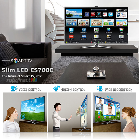 SAMSUNG UE46ES7000, 46 Series 7 Full HD 1080p Smart 3D LED TV with Voice & Motion Control System, Freeview HD & Freesat HD