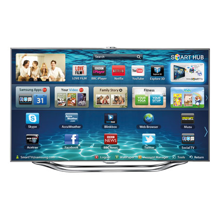 SAMSUNG UE46ES8000, 46 Series 8 Full HD 1080p Smart 3D LED TV with Voice & Motion Control System, Freeview HD & Freesat HD Ex-Display