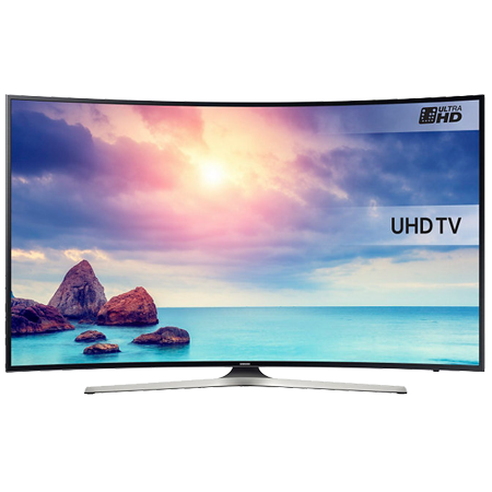 SAMSUNG UE49KU6100, 49 Series 6 Ultra HD 4K Smart Curved LED TV with Built-in Wi-Fi & Freeview HD